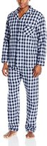 Majestic International Men's Deck The Halls Flannel Long Sleeve Pajama Set