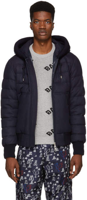 Moncler Navy Down Renoir Jacket