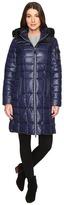 "Andrew Marc Julia 37"" Laquer Puffer Faux Fur Coat"