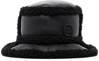 Ruslan Baginskiy Faux-Shearling Trim Bucket Hat