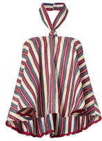 Viva Aviva Striped Halter Neck Top
