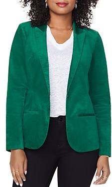 NYDJ Velvet One-Button Blazer