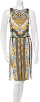 Naeem Khan Silk Beaded Dress