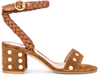 Gianvito Rossi Ankle Strap Stud Sandals in Texas & Cuoio | FWRD