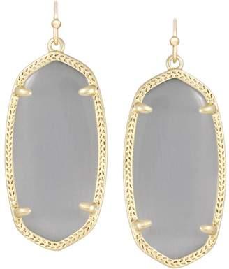 Kendra Scott Elle Gold Drop Earrings in Slate Cats Eye