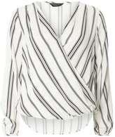 Dorothy Perkins Stripe Wrap Blouse
