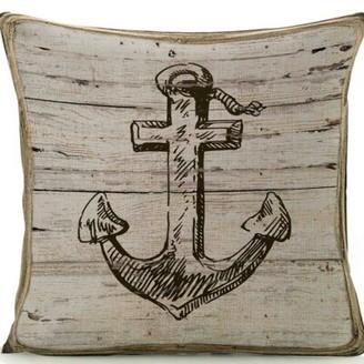 Gilliam Anchor Linen Throw Pillow Breakwater Bay