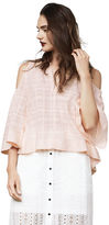 BCBGMAXAZRIA Elin Cold-Shoulder Top