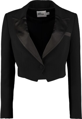 Self-Portrait Self Portrait Satin Lapels Blazer