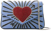 Les Petits Joueurs embellished heart crossbody bag