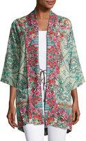 Johnny Was Brock Floral-Print Kimono, Multi