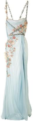 Marchesa softly draped Grecian gown