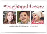 Minted Hashtag Laughter Christmas Photo Cards