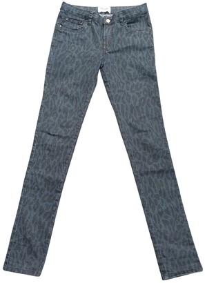 Ganni Blue Cotton Trousers for Women