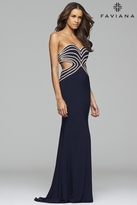 Faviana s7701 Jersey sweetheart evening dress with rhinestone details
