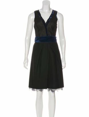 Nina Ricci Sleeveless Midi Dress Black