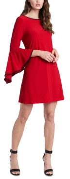 MSK Piped Bell-Sleeve Shift Dress
