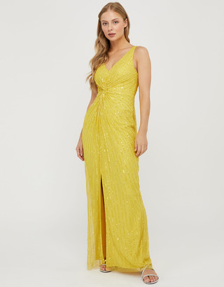 Under Armour Kate Sustainable Sequin Slim Maxi Dress Yellow