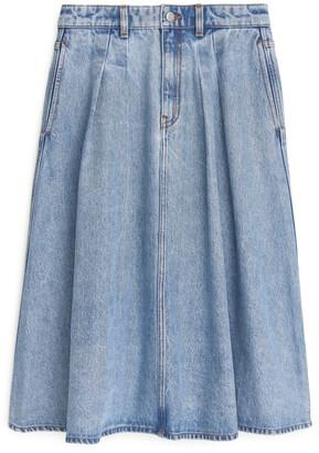 Arket Flared Denim Skirt