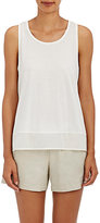 Skin SKIN WOMEN'S VOILE-TRIMMED COTTON JERSEY TOP-WHITE SIZE 3