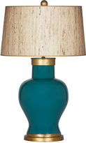Bradburn Gallery Home Cleo Teal Table Lamp, Seagrass Shade