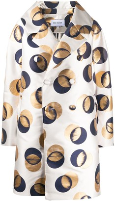 Dice Kayek Oversized Abstract Print Coat