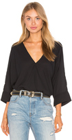 Krisa Oversized Surplice Top