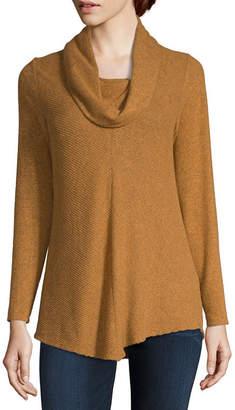Alyx Womens Scoop Neck Long Sleeve Knit Blouse