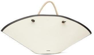 Jil Sander Sombrero Large Rope-handle Canvas Bag - White Multi