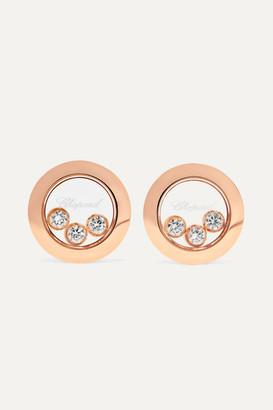 Chopard Happy Diamonds 18-karat Rose Gold Diamond Earrings