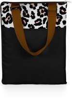 Picnic Time 'Vista' Outdoor Blanket Tote - Black with Leopard Print