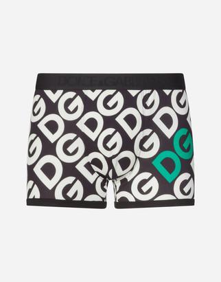 Dolce & Gabbana Cotton Boxers With Logo Print