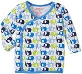 Zutano Enzos Elephants Kimono Top (Baby) - White - New Born