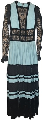 Elie Saab Blue Lace Dress for Women