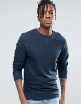 Selected Crew Neck Sweatshirt in Melange Jersey