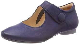 Think! Women's Guad_282280 Ankle Strap Ballet Flats, Blue Capri 89