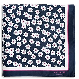 Ted Baker Silk Daisy Pocket Square
