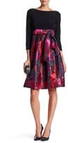 Eliza J 3/4 Sleeve Tie Waist Dress