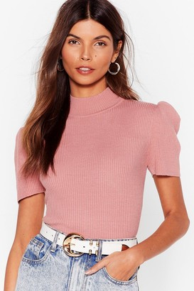 Nasty Gal Womens Shoulder Than You High Neck Top - Rose