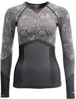 Odlo CREW NECK EVOLUTION WARM Undershirt black/concrete grey/hot coral