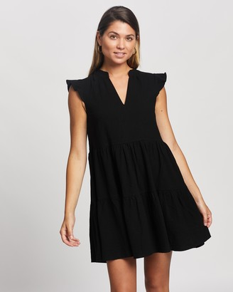 Atmos & Here Atmos&Here - Girl's Black Mini Dresses - Oscar Mini Dress - Size 6 at The Iconic