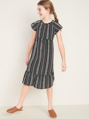 Old Navy Flutter-Sleeve Tulip-Hem Midi Dress for Girls
