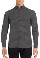 J. Lindeberg Printed Long Sleeve Cotton Shirt