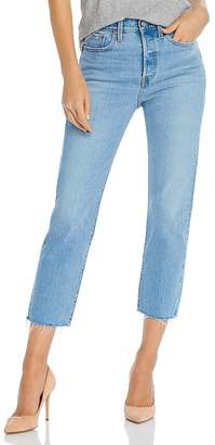 Levi's Wedgie Cropped Straight-Leg Jeans in Tango Hustle