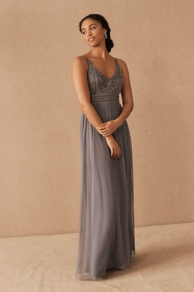 BHLDN Vilette Dress By in Grey Size Us 26/uk 30