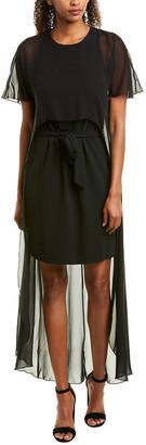 Trina Turk Capote Silk-Trim Maxi Dress