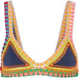 Kiini Tasmin Crochet-trimmed Triangle Bikini Top - Storm blue