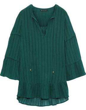 Vix Paula Hermanny Jasper Embroidered Cotton-gauze Coverup