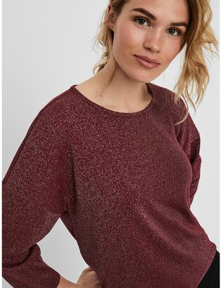 Vero Moda Sparkly T-Shirt with 3/4 Length Sleeves