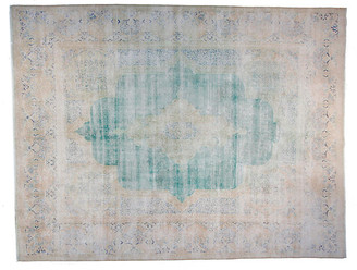 "F.J. Kashanian 9'6""x12'6"" Bahar Rug - Green/Ivory"